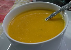 sweet potato tomatillo bisque YUM